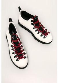Białe buty sportowe Native z cholewką, na średnim obcasie, na obcasie