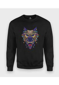 MegaKoszulki - Bluza klasyczna Pozłacany wilk. Styl: klasyczny