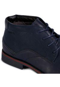 Niebieskie buty wizytowe Lanetti z cholewką, klasyczne