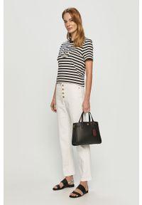 Białe jeansy bootcut Tory Burch gładkie