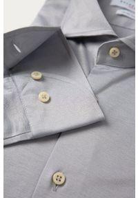 Szara koszula Baldessarini na co dzień, casualowa, z włoskim kołnierzykiem, długa