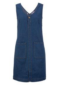 Sukienka dżinsowa ze stretchem bonprix niebieski. Kolor: niebieski