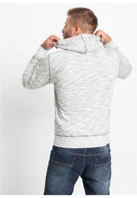 Szara bluza bonprix z kapturem, z nadrukiem