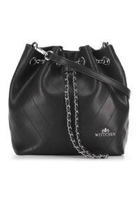 Czarna torebka worek Wittchen mała, matowa #6