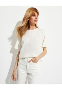 NANUSHKA - Biała koszulka Reece. Kolor: biały. Materiał: bawełna, jeans
