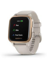 GARMIN - Garmin smartwatch VENU SQ Music, Light Sand/Rose Gold. Rodzaj zegarka: smartwatch. Kolor: biały, wielokolorowy, różowy. Styl: sportowy
