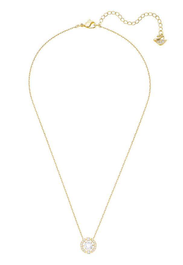 Złoty naszyjnik Swarovski metalowy, z aplikacjami