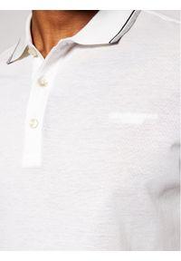Baldessarini Polo 10011/000/5039 Biały Regular Fit. Typ kołnierza: polo. Kolor: biały