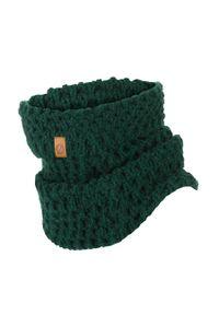 BRODRENE - Komin zimowy dopasowany Brodrene K6 zielony. Kolor: zielony. Materiał: materiał. Wzór: ze splotem. Sezon: zima