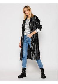 Czarny płaszcz przejściowy Rains