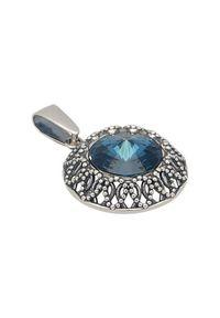 Polcarat Design - Srebrny wisiorek z kryształem Swarovskiego W 1914. Materiał: srebrne. Kolor: srebrny. Kamień szlachetny: kryształ