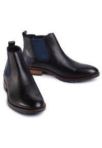Czarne buty wizytowe Lloyd eleganckie, z cholewką