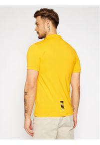 Żółta koszulka polo EA7 Emporio Armani polo
