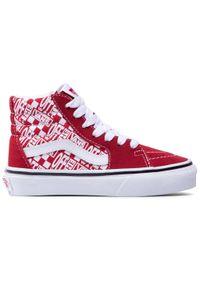 Vans - Sneakersy VANS - Sk8-Hi VN0A4BUW3VB1M (offfhewal)Chlppprrcngrd. Kolor: czerwony. Materiał: skóra, zamsz, materiał. Szerokość cholewki: normalna. Sezon: zima