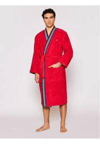 Czerwony szlafrok Lacoste
