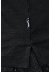 BOSS - Boss - Polo bawełniane. Typ kołnierza: polo. Kolor: czarny. Materiał: bawełna. Długość: krótkie. Wzór: gładki