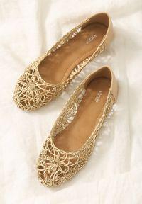 Born2be - Beżowe Balerinki Misconceive. Nosek buta: okrągły. Kolor: beżowy. Materiał: koronka. Wzór: gładki, ażurowy. Styl: wakacyjny, boho, klasyczny