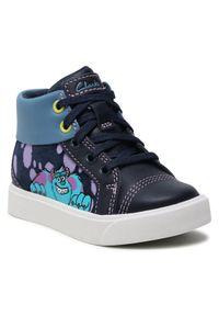 Niebieskie buty zimowe Clarks