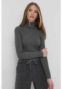 Lauren Ralph Lauren - Sweter. Typ kołnierza: golf. Kolor: szary. Materiał: dzianina. Długość rękawa: długi rękaw. Długość: długie