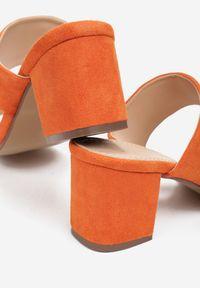Renee - Pomarańczowe Klapki Mystoche. Kolor: pomarańczowy