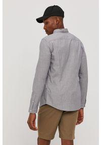 Tom Tailor - Koszula bawełniana. Typ kołnierza: kołnierzyk klasyczny. Kolor: szary. Materiał: bawełna. Styl: klasyczny