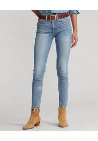 Ralph Lauren - RALPH LAUREN - Dopasowane jeansy z wysokim stanem. Okazja: na co dzień. Stan: podwyższony. Kolor: niebieski. Styl: klasyczny, casual