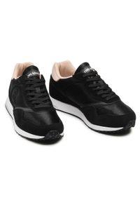 Czarne buty sportowe Le Coq Sportif z cholewką, na płaskiej podeszwie