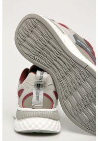 Szare sneakersy Big-Star na sznurówki, z okrągłym noskiem