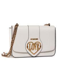 Biała torebka Love Moschino wizytowa