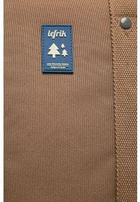 Brązowy plecak Lefrik z aplikacjami