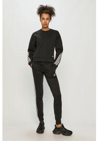 Czarna bluza adidas Performance gładkie, na co dzień, casualowa