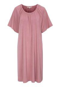 Cellbes Miękka koszula nocna złamany róż female różowy 50/52. Kolor: różowy. Materiał: jersey, wiskoza, włókno. Długość: do kolan