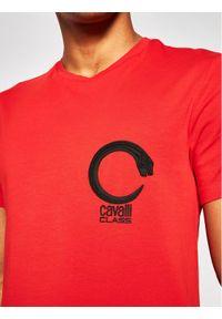 Czerwony t-shirt Cavalli Class