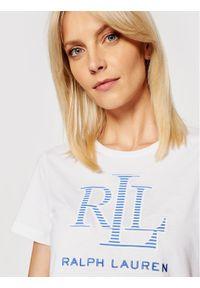 Lauren Ralph Lauren T-Shirt 200831717001 Biały Regular Fit. Kolor: biały