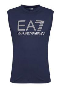 Niebieski tank top EA7 Emporio Armani