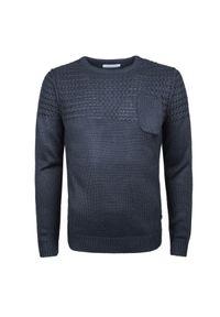 Sweter Trussardi Jeans casualowy, z aplikacjami, na co dzień, z okrągłym kołnierzem