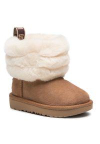 Brązowe buty zimowe Ugg z cholewką, na spacer