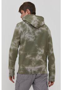 Champion - Bluza bawełniana. Okazja: na co dzień. Typ kołnierza: kaptur. Kolor: zielony. Materiał: bawełna. Styl: casual