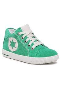 Superfit - Sneakersy SUPERFIT - 1-000348-7000 S Grün/Weiss. Kolor: zielony. Materiał: skóra, zamsz. Szerokość cholewki: normalna. Sezon: zima