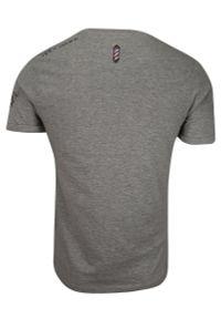 Szary t-shirt Brave Soul casualowy, krótki, z krótkim rękawem, na co dzień