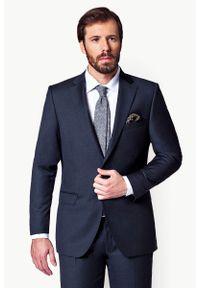 Lancerto - Garnitur Business Mix Popiel. Materiał: poliester, wiskoza, tkanina, wełna. Wzór: gładki