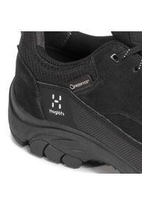 Haglöfs - Trekkingi HAGLÖFS - Skuta Low Proof Eco Men 498410 True Black. Kolor: czarny. Materiał: skóra, skóra ekologiczna, zamsz. Szerokość cholewki: normalna. Sport: turystyka piesza #5