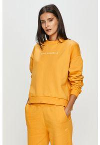 Żółta bluza 4f z długim rękawem, gładkie, bez kaptura