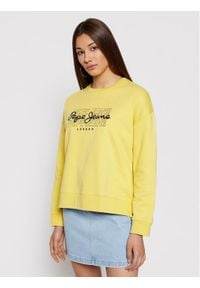 Pepe Jeans Bluza Bere PL581076 Żółty Relaxed Fit. Kolor: żółty