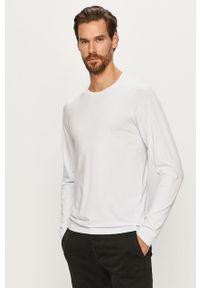 Biała koszulka z długim rękawem Jack & Jones