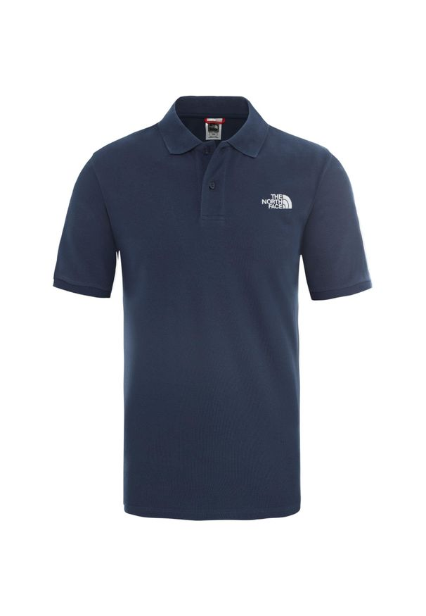 Niebieska koszulka sportowa The North Face polo