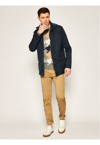 TOMMY HILFIGER - Tommy Hilfiger Tailored Sweter Macro TT0TT06179 Szary Regular Fit. Kolor: szary