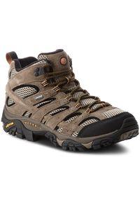 Brązowe buty trekkingowe Merrell Gore-Tex, trekkingowe