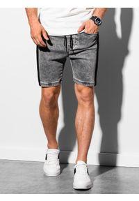 Szare szorty Ombre Clothing z aplikacjami, krótkie
