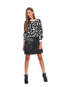 Beżowy sweter TROLL na co dzień, plus size, z motywem zwierzęcym